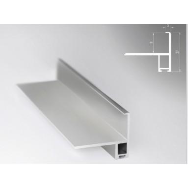 Profilis STILO blizgus sidabras 3m