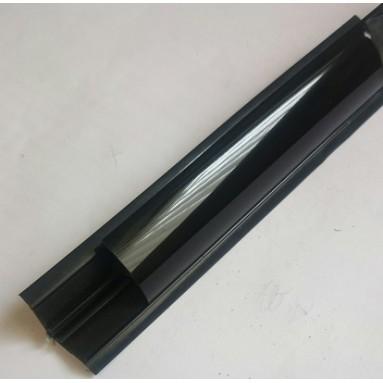 Staljuostė plastikinė maža IŠGAUBTA juoda